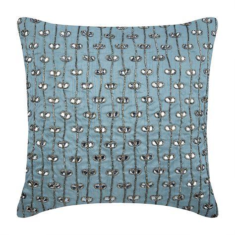 Cuscini Decorativi.Decorativo Azzurro 40x40 Cm Cuscino Del Divano Art Silk Floreale