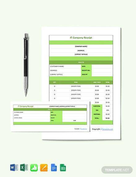 Sample It Company Receipt Template Free Pdf Google Docs Google Sheets Excel Word Receipt Template Templates Google Sheets