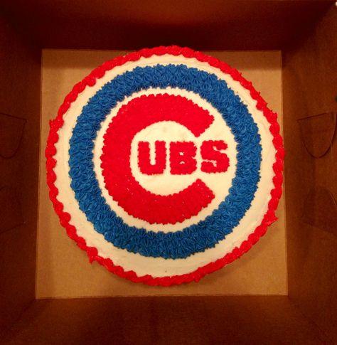 Chicago Cubs Cake made by Sweet Byrdie Bites https://m.facebook.com/SweetByrdieBites