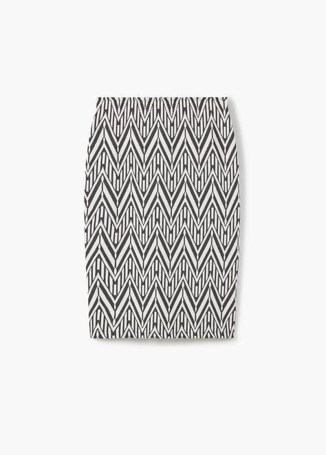 Фактурная юбка-карандаш | MANGO МАНГО