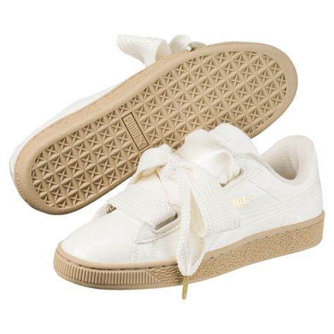 Puma Basket Heart Patent Damen MarshmallowWeiß 363073 06