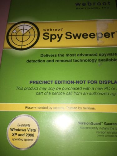 Webroot Spy Sweeper Dvd For Windows Vista Windows Xp Webroot