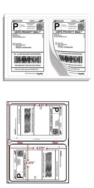 Labels 8 5x5 5 - 1000 Shipping Labels Half-Sheet Self