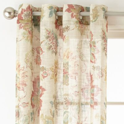 Buy Jcpenney Home Bismarck Grommet Top Sheer Curtain Panel At