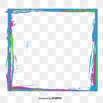 Vector Color Inkjet Border Border Picture Material Aquarene Color Png Transparent Clipart Image And Psd File For Free Download Color Splash Graphic Design Background Templates Text Borders