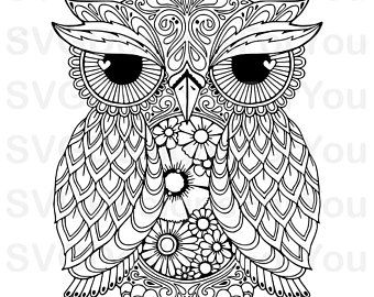 Mandela Svg Etsy Owl Coloring Pages Coloring Books Adult
