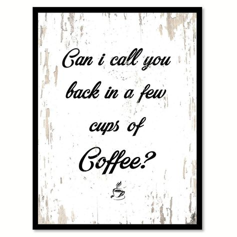 Coffee First Your Bullsh t Second Quote Saying Canvas Print