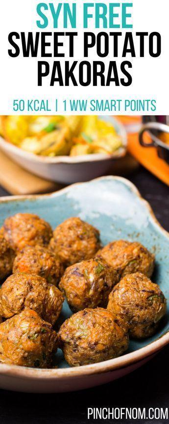 Syn Free Sweet Potato Pakoras | Pinch Of Nom Slimming World Recipes 50 kcal | Syn Free | 1 Weight Watchers Smart Points