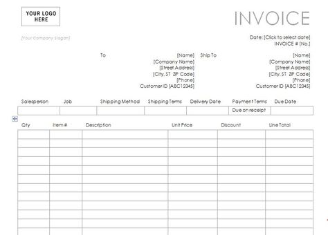 Consulting Invoice Template My Favorite Internet word Templates - shipping invoice template
