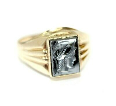 Ad Ebay Link Vintage Womens 10k Yellow Gold Hematite Soldier Warrior Ring Size 5 5 2 1 Gram Warrior Ring Gold Hematite Hematite Ring