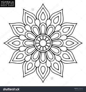 Blumen Mandala Vintage Dekorative Elemente Orientalisches Muster Vektorillustrati Art Art Malbuch Vorlagen Mandala Malvorlagen Mandala Ausmalen