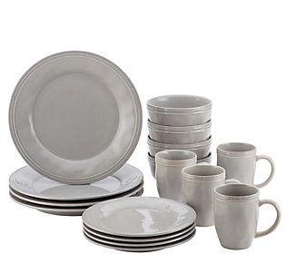 Rachael Ray Cucina Dinnerware 16 Pc Stoneware Dinnerware Set Qvc Com Stoneware Dinnerware Sets Stoneware Dinnerware Dinnerware Sets