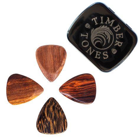 Timber Tones Groove Tone Mini Guitar Pick Single Pick Buffalo Bone