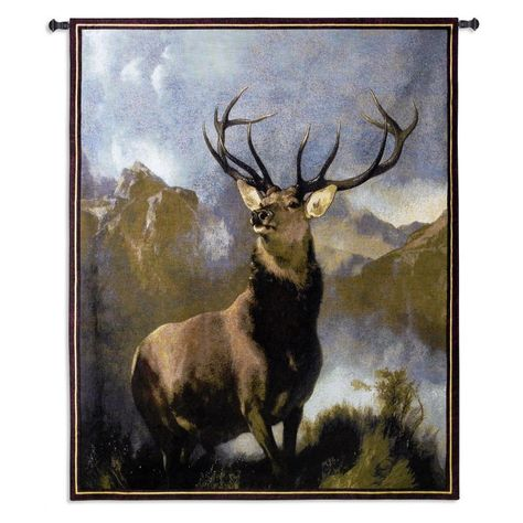 Fine Art Tapestries Monarch Of The Glen Wall Tapestry 1920 Wh