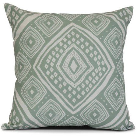 Simply Daisy Geometric Lil Diamond Jill Outdoor Pillow Walmart Com Green Outdoor Pillows Outdoor Throw Pillows Pillows