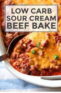 Tulul Casserole Recipes Low Carb Sour Cream Beef Bake Recipe Keto Recipes Dinner Creamed Beef Low Carb Casseroles