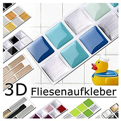 Amazon De Grandora 7er Set 25 3 X 3 7 Cm Fliesenaufkleber Blau Turkis Silber Fliesensticker Design 1 In 2020 Fliesenaufkleber Fliesen Sticker Mosaikfliesen