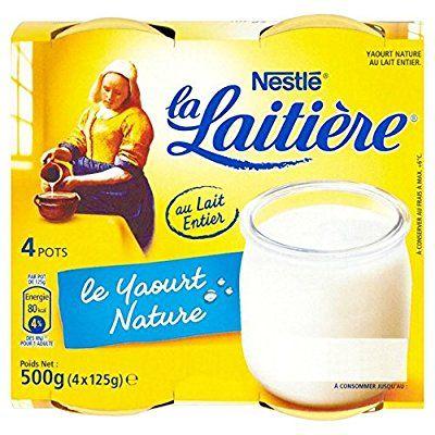 Nestle La Laitiere Natural Yogurt 4 X 125g Amazon Co Uk Grocery