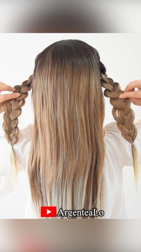 Cute Braids Hairstyle 💛
