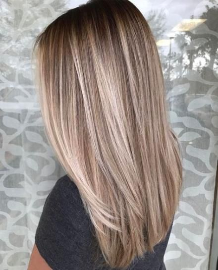 40 Ideas For Hair Color Ombre Blonde Highlights Balayage Straight Hair Straight Hairstyles Hair Styles