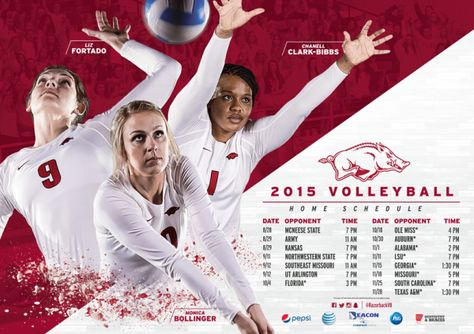 Posterswag Com Top 30 Ncaa Volleyball Schedule Posters Smsports Sportsbiz Volleyball Volleyball Posters College Poster