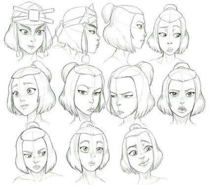 Best Drawing Reference Face Character Design Female Characters Ideas Character Design Drawing Expressions Sketches