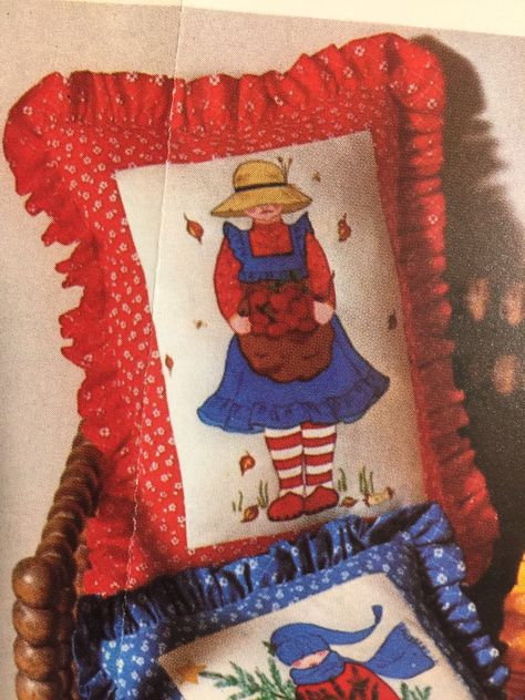 MUFFIN Country GIRL Crewel Embroidery Pattern McCall's Leaflet T-132, free shipping