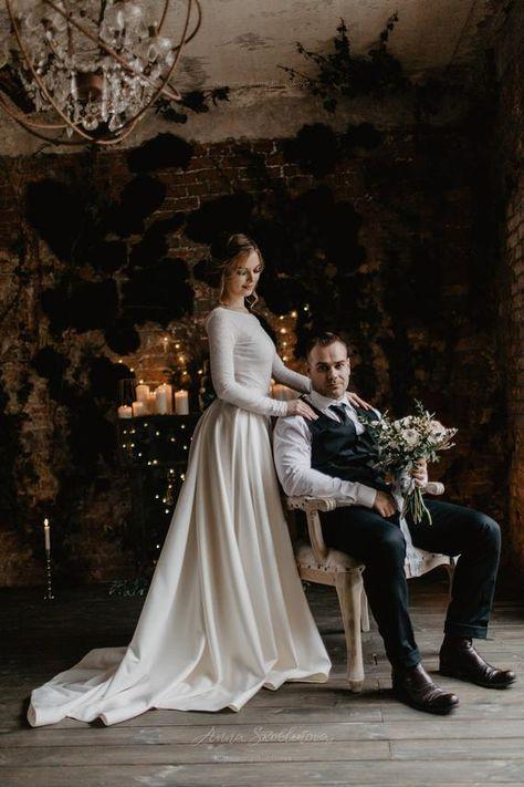 Two piece wedding dress Ball gown wedding dress Bohemian | Etsy