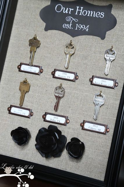 house key shadowbox I love this and being in the military we will have several house keys