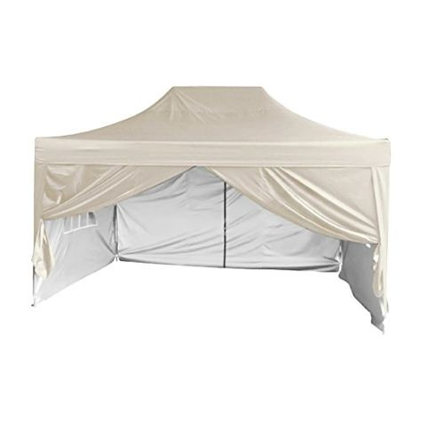 Quictent Silvox Waterproof 10 X15 Ez Pop Up Canopy Commercial Gazebo Party Tent Beige Style Removable Sides With Roller Bag Want Canopy Party Tent Gazebo