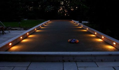 If you're extra handy, build a bocce court that can be played on day or night.