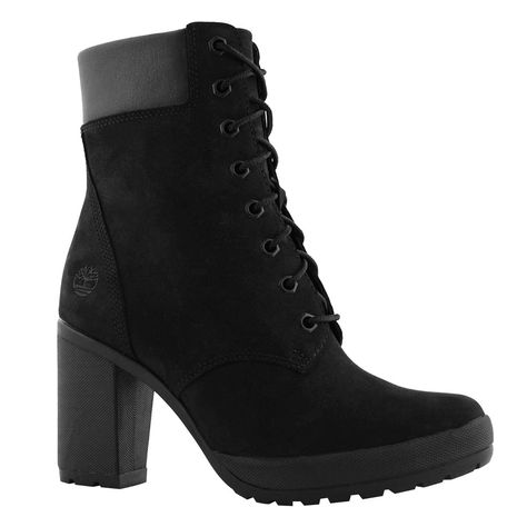 Women's CAMDALE laced black heel boots | Christmas 2018