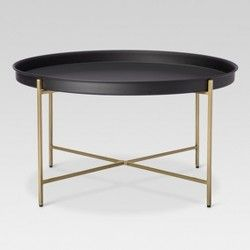 Manila Hammered Barrel Coffee Table Brass Project 62 Target Coffee Table Black Coffee Tables Gold Coffee Table