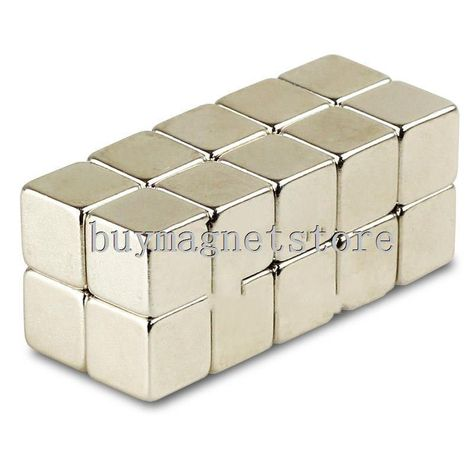 10 Strong Magnets 10mm x 10mm x 10mm Cube Neodymium Rare Earth Block Magnetic