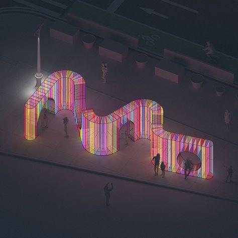 hou de sousa's iridescent 'ziggy' installation opens in new york's flatiron plaza