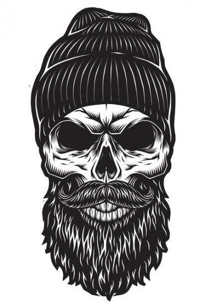 Nailart Ootd Crochet Garden Eyemakeup Diy Knitting Keto Watercolor Keto Images Homema Skull Beard Beard Art Bearded Skull Tattoo