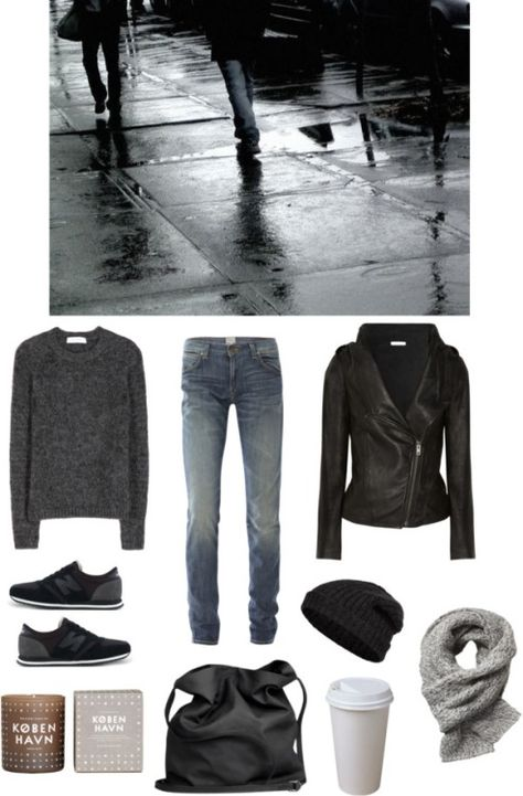 Untitled #82 by fleur-de-neige featuring scented candlesValentino shirt, $670 / Helmut Lang leather jacket, $510 / PRPS skinny jeans, $185 / New balance shoes, $78 / Ann Demeulemeester black purse / Scotch Soda scarve, $52 / Closed knit hat, $59 / Scented candle, $37