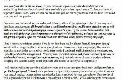 Dentist Appointment Letter Template And Reschedule Appointment