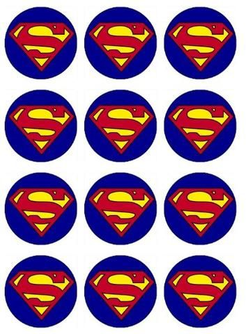 15 Superman Man of Steel Stickers Party Favors Teacher Supply