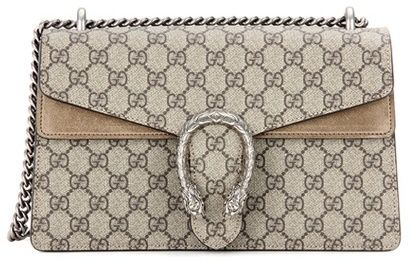 89f523eb5be0a Gucci Dionysus GG Supreme Small coated canvas and suede shoulder bag ...