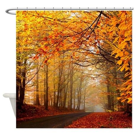 Road At Autumn Shower Curtain By Wickeddesigns1 Fall Facebook