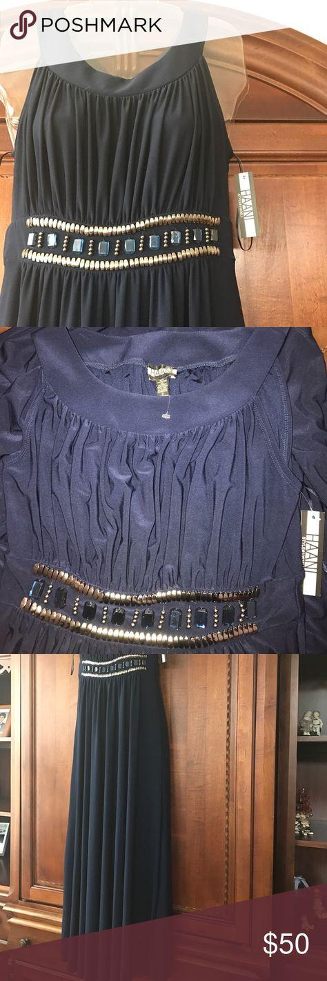 Dress size small petite Navy blue Sequins beaded Maxi dress! Brand New HAANI Dresses Maxi