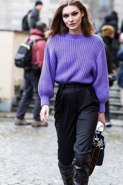 55 Super Ideas For Knitting Sweter Outfit Purple