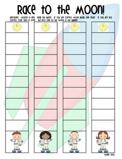 Race for the Moon - Sight word game
