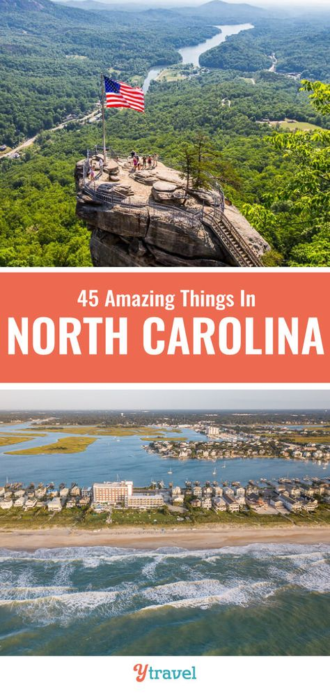 Planning to visit North Carolina? Don't miss this list of 45 best things to do in North Carolina for your North Carolina vacation. Don't take a North Carolina road trip before reading these North Carolina travel tips. #NC #travel #NorthCarolina #roadtrips #vacations #familytravel #NorthCarolinatravel