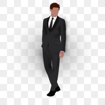 Man With Black Suit Man Clipart Png Man Png And Vector With Transparent Background For Free Download Man Clipart Black Suits Silhouette Man