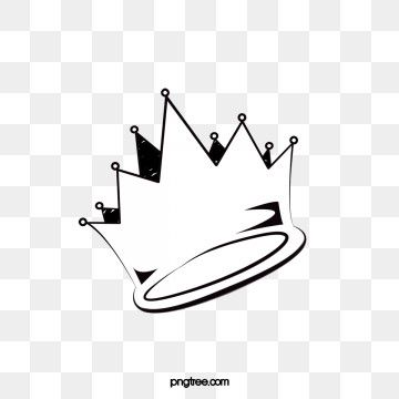Hand Painted Black And White Crown Crown Clipart Imperial Crown Crown Png Transparent Clipart Image And Psd File For Free Download Crown Png Crown Illustration Crown Outline