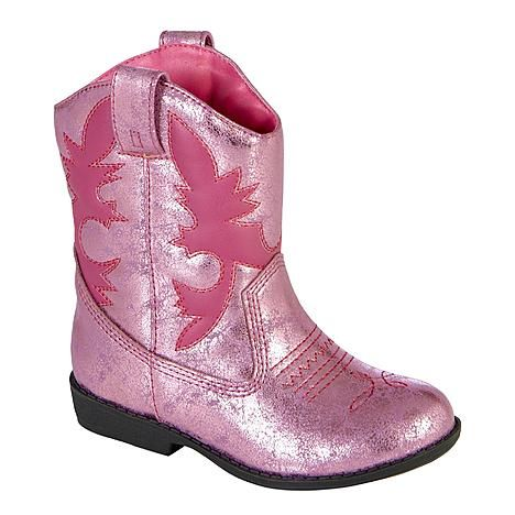 Pink boots for a Sheriff Callie birthday party