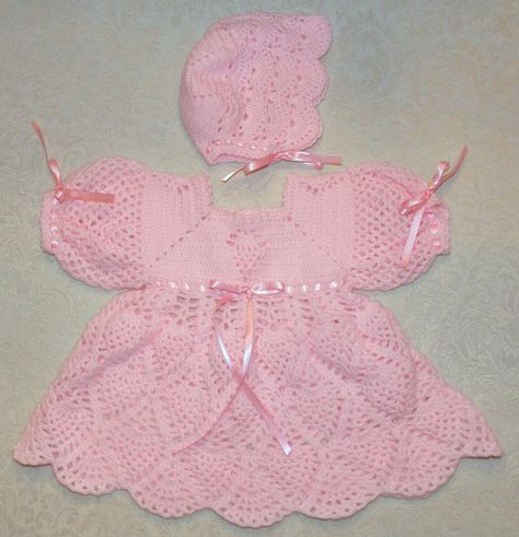 Crochet Baby Dress...  Lavender ...READY TO by sweetpeacollections, $25.00