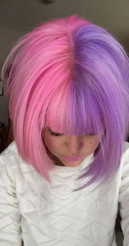Best Nails Purple Pastel Dyes Ideas Hair Color Pink Half And Half Hair Hair Styles